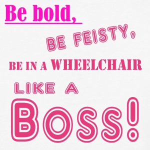 In a wheelchair like a boss-pink - Baseball T-Shirt