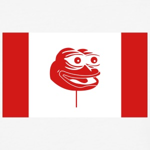 Canadian Pepe Flag - Baseball T-Shirt