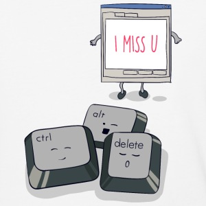 I Miss You CAD Keyboard T-Shirt - Baseball T-Shirt
