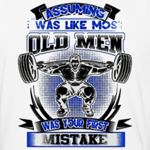 old man was your first mistake - Baseball T-Shirt
