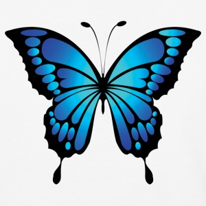 Bright blue butterfly - Baseball T-Shirt