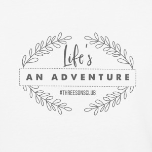 Life's An Adventure #threesonsclub Gray - Baseball T-Shirt