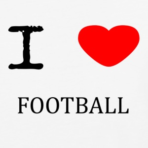 I LOVE FOOTBALL - Baseball T-Shirt