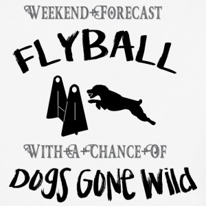 Flyball Weekend Forecast - Baseball T-Shirt