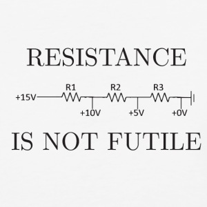 Resistance is not Futile - Baseball T-Shirt