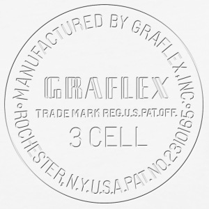 Graflex clean Stamp black or white - Baseball T-Shirt