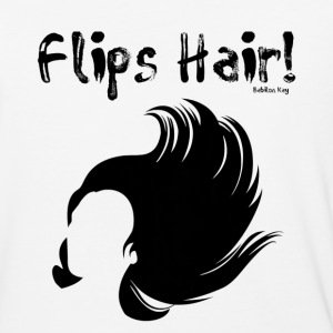 Flips Hair - Baseball T-Shirt