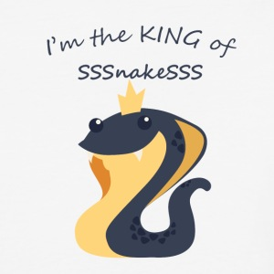 King of snakes - Cute snake with Crown - Baseball T-Shirt