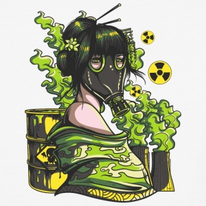 Nuclear Girl With - Baseball T-Shirt