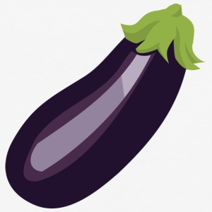 Egg Plant aka Purple Pickle - Baseball T-Shirt