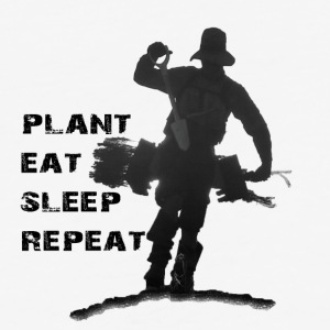 Tree Planter - Plant Eat Sleep Repeat - Baseball T-Shirt
