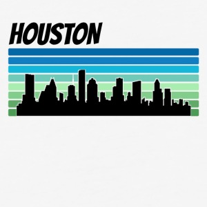 Retro Houston Skyline - Baseball T-Shirt