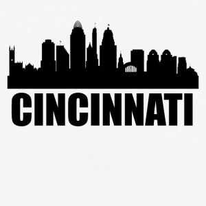 Cincinnati OH Skyline - Baseball T-Shirt