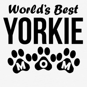 World's Best Yorkie Mom - Baseball T-Shirt
