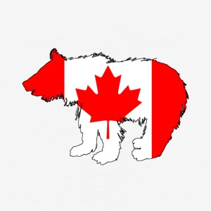 Canadian Flag - Bear Cub - Baseball T-Shirt