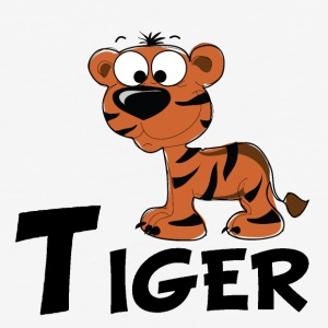 Cartoon Tiger - Baseball T-Shirt