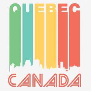 Retro Quebec Skyline - Baseball T-Shirt