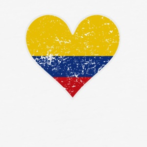 Distressed Colombian Flag Heart - Baseball T-Shirt