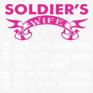 Soldiers Wife Yes Hes Working - Baseball T-Shirt