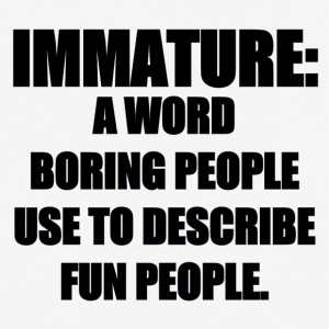 IMMATURE DEFINITION - Baseball T-Shirt