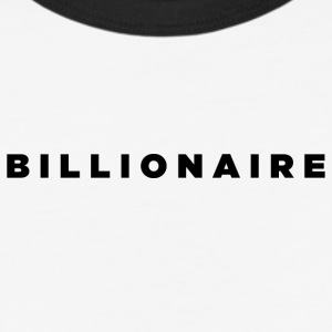 Billionaire - Block Text Design (Black Letters) - Baseball T-Shirt