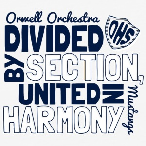Orwell Orchestra OHS Mustangs - Baseball T-Shirt