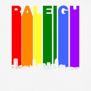 Raleigh Skyline Rainbow LGBT Gay Pride - Baseball T-Shirt