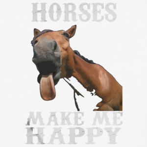Horses make me happy shirt - Baseball T-Shirt
