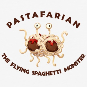 pastafarian FLYING SPAGHETTI MONSTER - Baseball T-Shirt