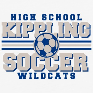 High School Kippling Soccer Wildcats - Baseball T-Shirt