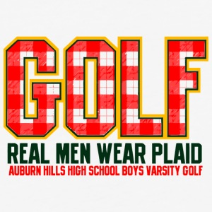 Golf Real Men Wear Plaid Auburn Hills High School - Baseball T-Shirt