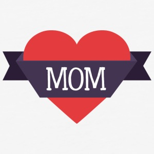 mom_heart - Baseball T-Shirt