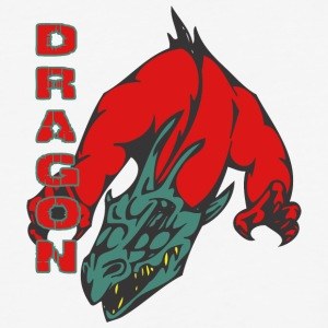 dragon_with_hands_red - Baseball T-Shirt
