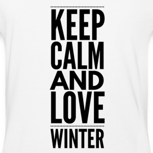 KeepCalm Love Winter - Baseball T-Shirt