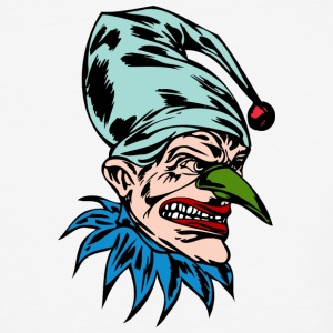 EVIL_CLOWN_40_colored - Baseball T-Shirt