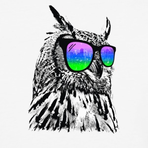 White Cool Owl Cyber System - Baseball T-Shirt