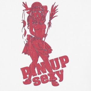 naked_breast_pin_up_girl_red - Baseball T-Shirt