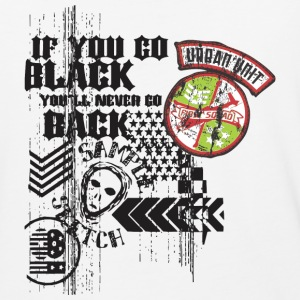 If you go black you will never go back - Baseball T-Shirt