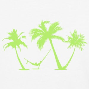 Palm trees Beach - Baseball T-Shirt