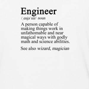 Engineer Definition - Baseball T-Shirt