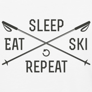 EAT. SLEEP. SKI. REPEAT. - Baseball T-Shirt