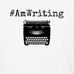 AmWriting With Typewriter Gifts For Writers - Baseball T-Shirt