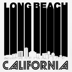 Retro Long Beach California Skyline - Baseball T-Shirt