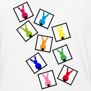 stamps with easter bunnies / easter rabbits - Baseball T-Shirt