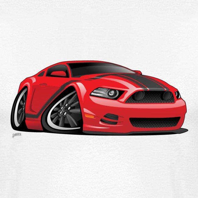 American Muscle Car Cartoon Illustration