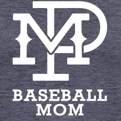 MP Baseball Mom Logo White - Unisex Baseball T-Shirt