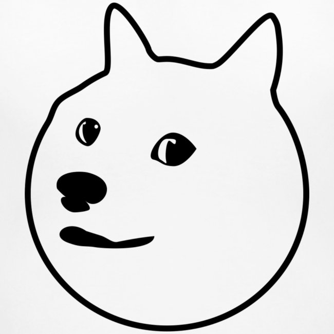 Black-Outlined Doge