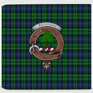 Abercrombie Clan Badge with Tartan - Mouse pad Horizontal