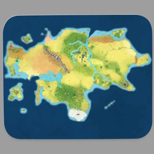 Arcadia Map - Mouse pad Horizontal