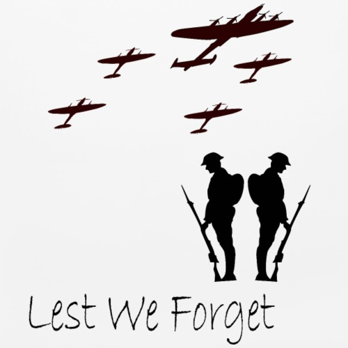 Lest We Forget Flypast - Mouse pad Horizontal